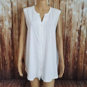 Land'sEnd Blouse XL White